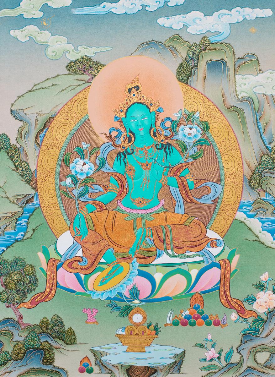 Green Tara 3: Green Tara II (Original Thangka)