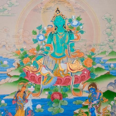 Green Tara IV (Thangka) - IOE ~ Dakini As Art