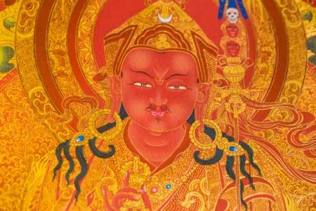 Padmasambhava (Close up). Red & Gold style.