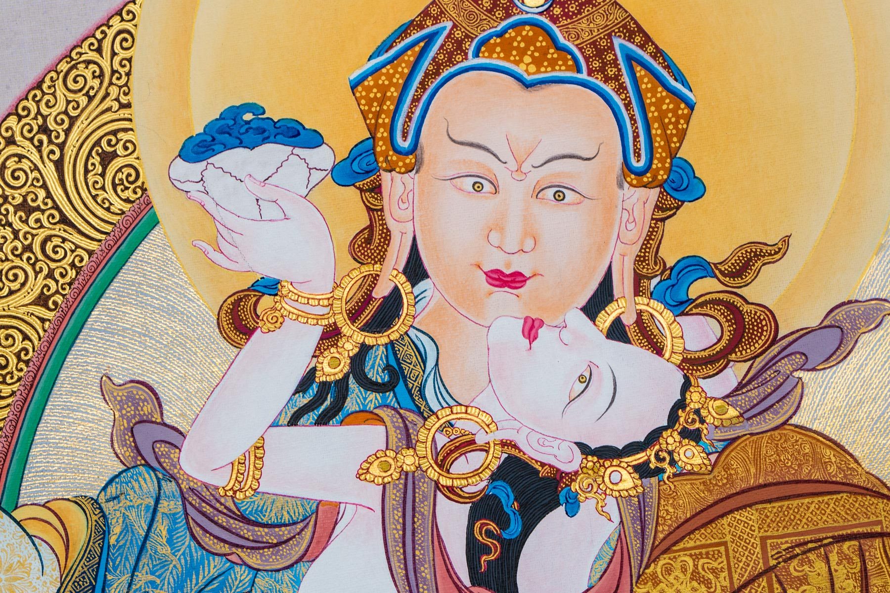 Guru Rinpoche with Consort (Detail G)