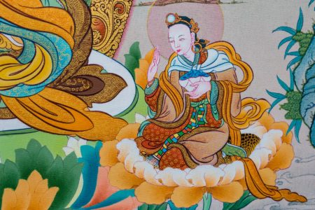 Guru Rinpoche IV (Detail F).  Karma Gadri style.