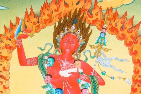 Karma Gadri style in antique color.