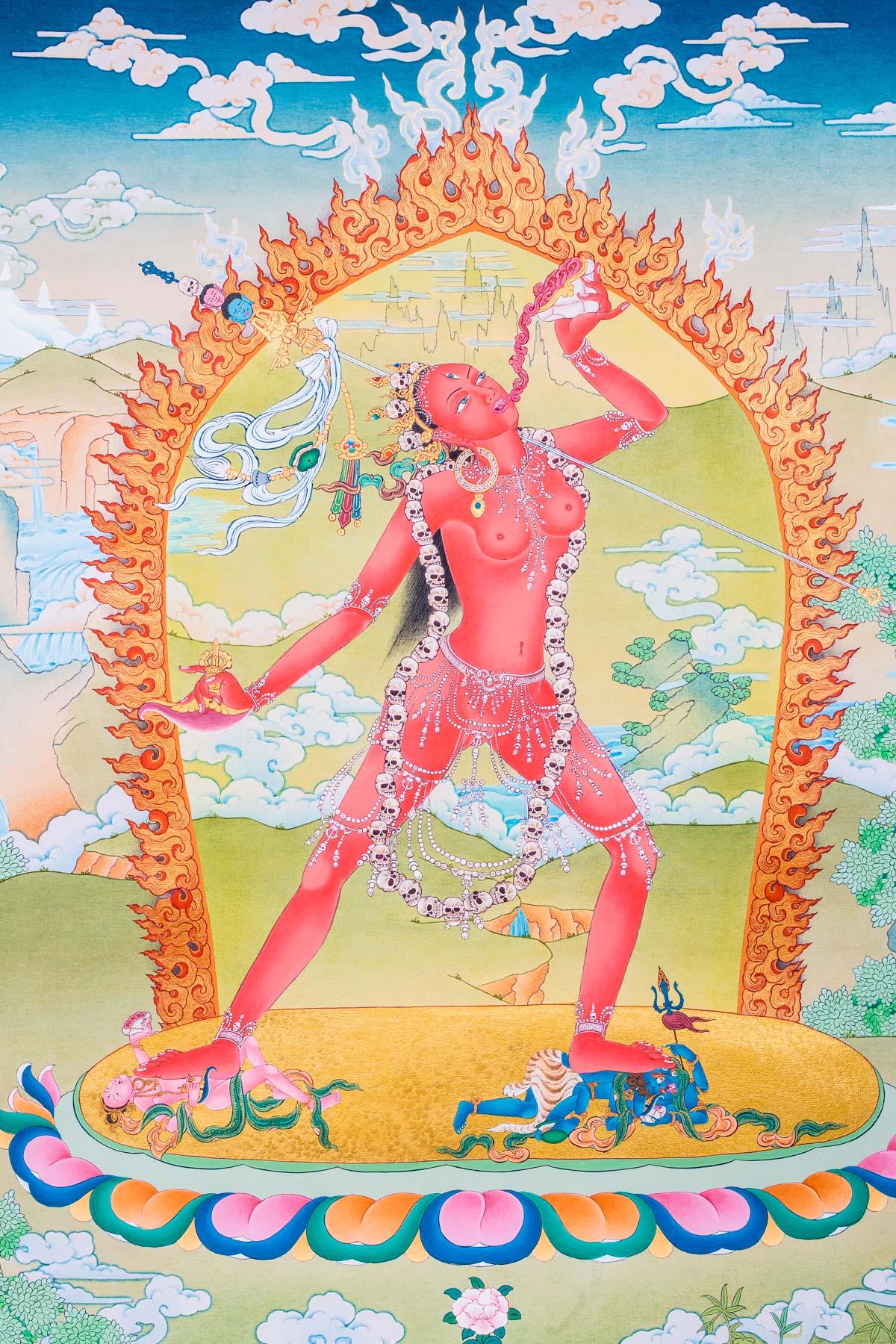 Vajrayogini Iii Detail B - Ioe  Dakini As Art-2130