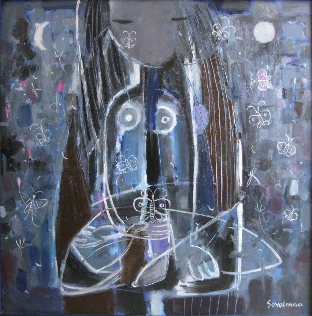 Soyolmaa Davakhuu. 78 x 78 cm, oil on canvas. www.dakiniasart.org