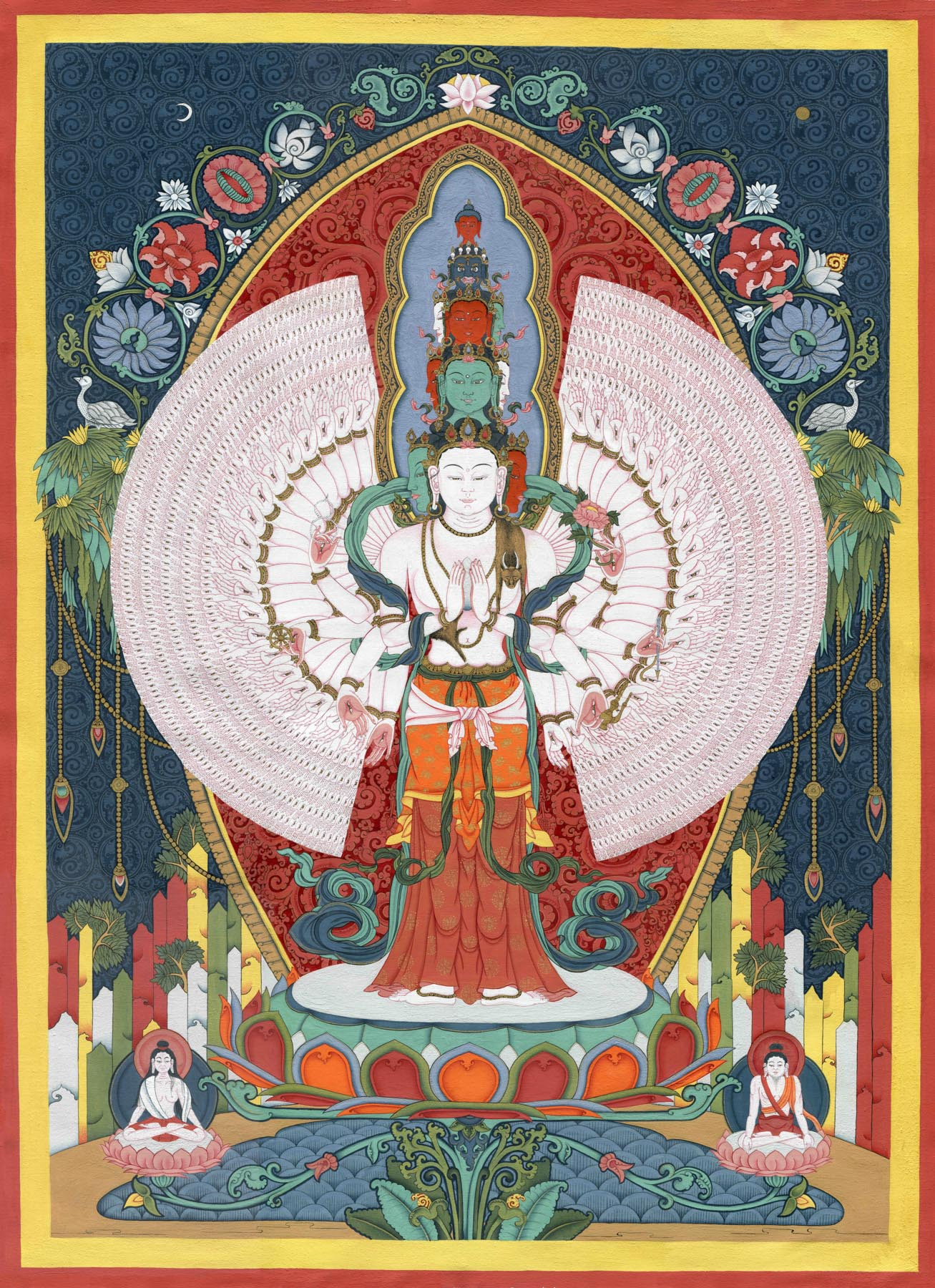 1000 Armed Avalokiteshvara (Art Print) - Flera Birmane