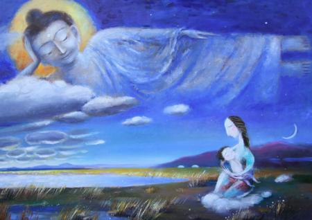 70 x 100 cm, oil on canvas, $ 3500