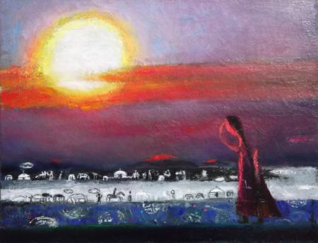 35 x 45 cm, oil on canvas, $ 500