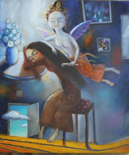 70 x 80 cm, oil on canvas, $ 1500