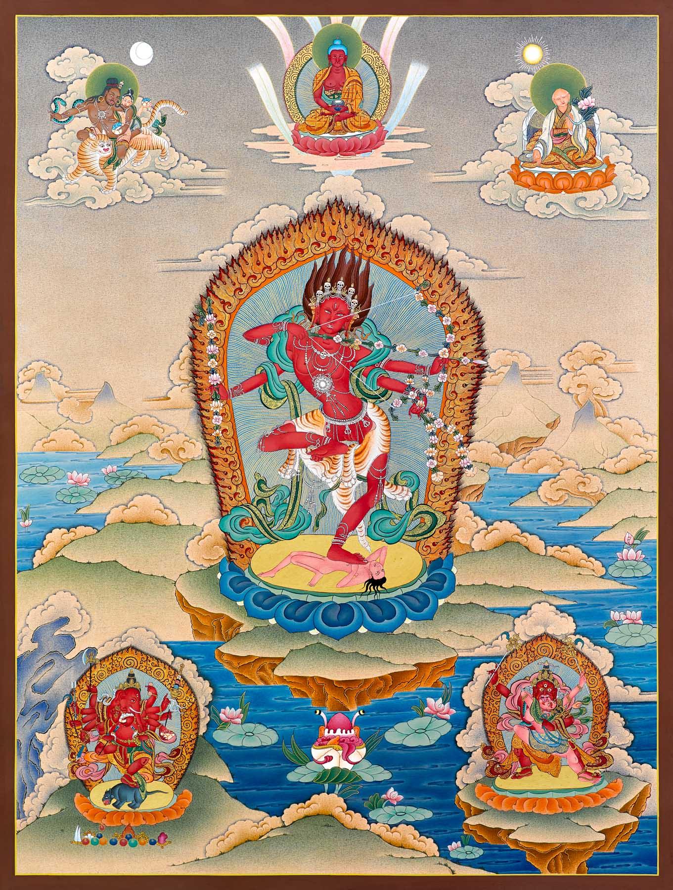 Kurukulle (Thangka) - Enlightenment ~ Dakini As Art