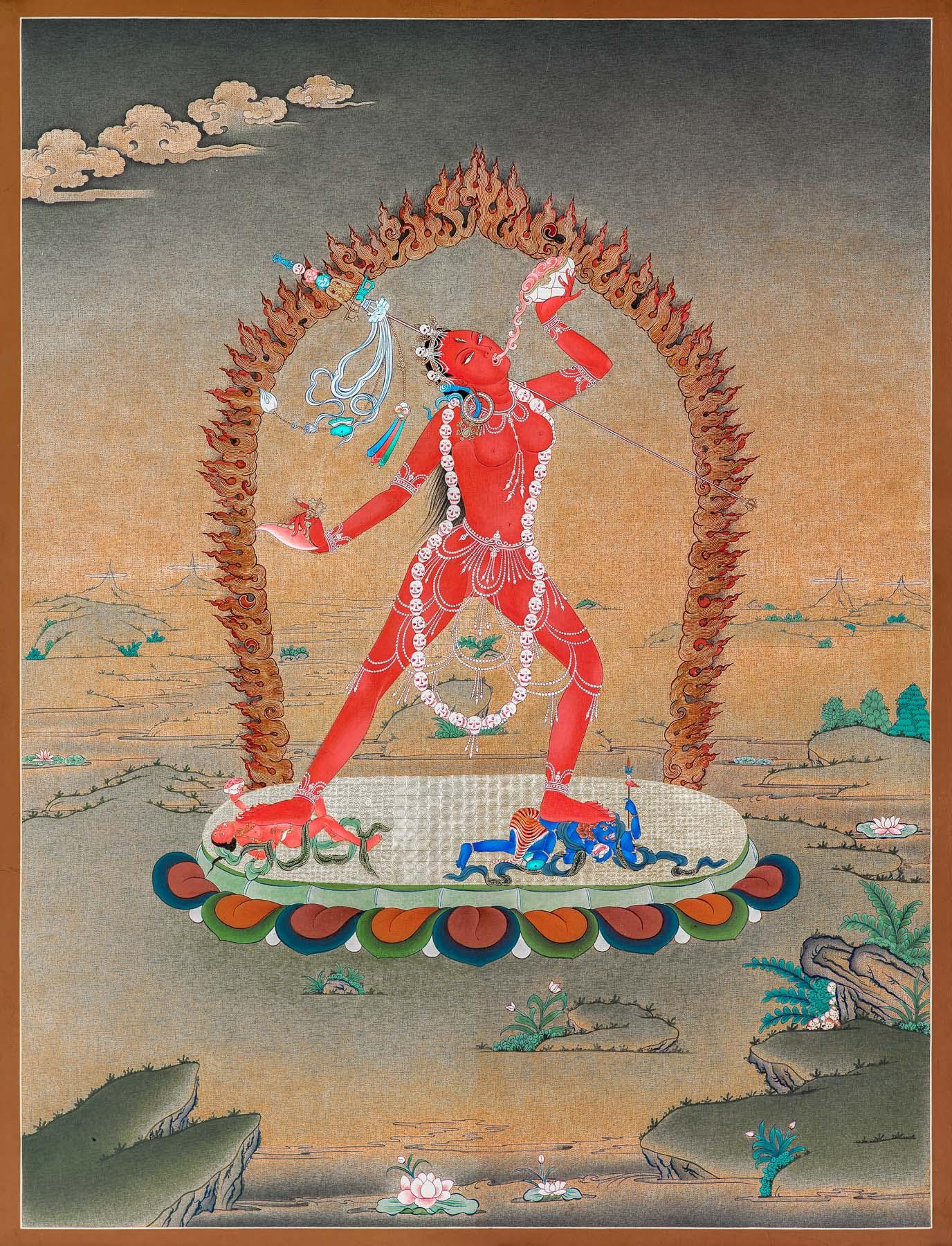 Vajrayogini (Thangka) - IOE ~ Dakini As Art