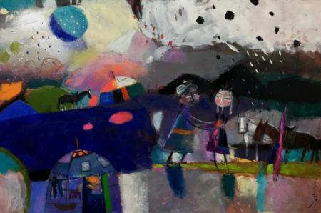 New work, Soyolmaa Davaakhuu, June 2018.  www.dakiniasart.org